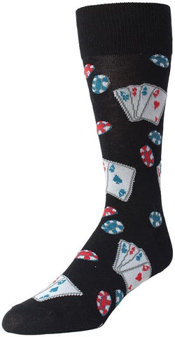 SOFT FUN SOCKS - POKER