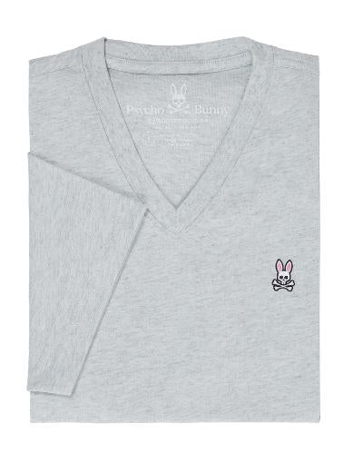 SS HEATHERED VNECK - GREY
