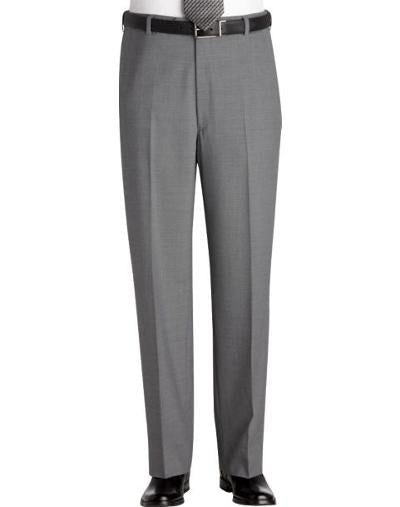 CLASSIC FIT WOOL DRESS PANT - GREY