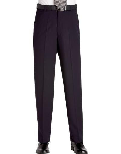 CLASSIC FIT WOOL DRESS PANT - NAVY