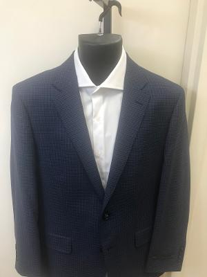RICHARD HARRIS LUXURY MINI CHECK MODERN FIT BLAZER - NAVY