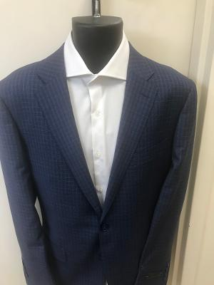HOUNDSTOOTH MODERN FIT BLAZER - NAVY