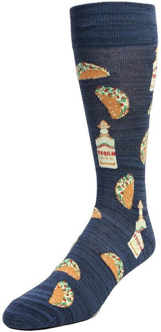 SOFT FUN SOCKS - TACO/TEQUILA