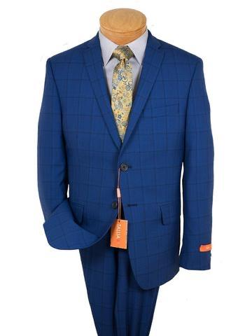 BOYS HUSKY 2 PC WOOL SUIT - BLUE
