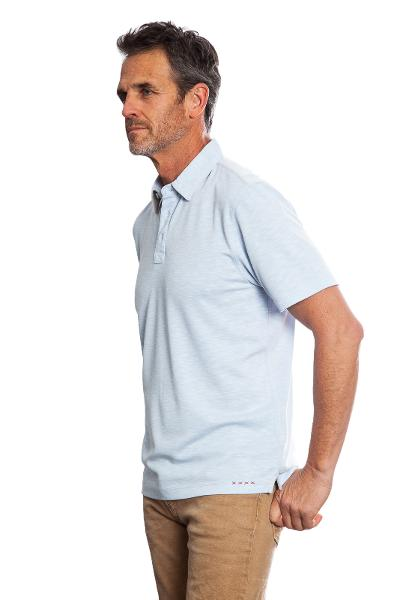 SUEDED MODAL POLO - LTBLU