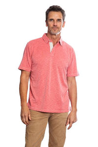SUEDED MODAL POLO - RED