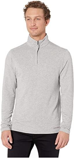 TENCEL QUARTER ZIP - GREY