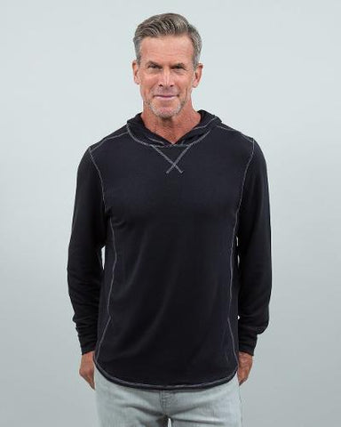 SCHOONER HOODED TEE - BLACK