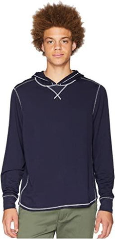 SCHOONER HOODED TEE - NAVY