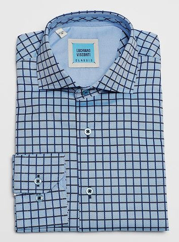 MENS EASY PEASY CHECK - BLUE