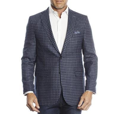 NOT A TYPICAL CHECK JACKET - NAVY