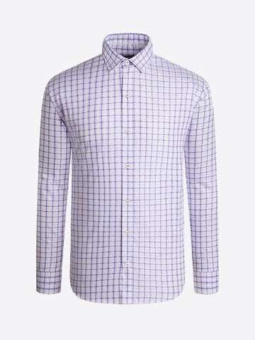 SHAPED FIT PURPLE CHECK