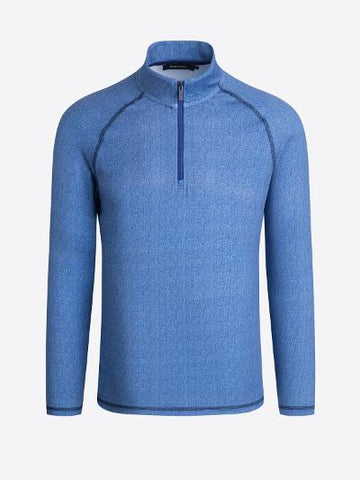 MENS PERFORMANCE 1/4 ZIP - BLUE
