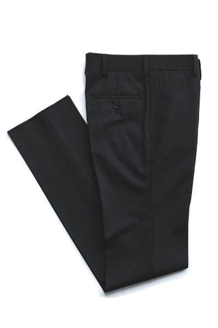 BOYS HUSKY DRESS PANT - BLACK