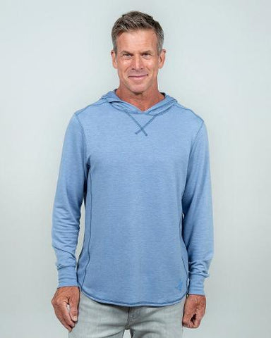SCHOONER HOODED TEE - PACIFIC BLUE