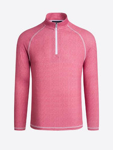 MENS PERFORMANCE 1/4 ZIP - RED