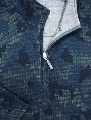 1/4 ZIP SWEATER - CAMO