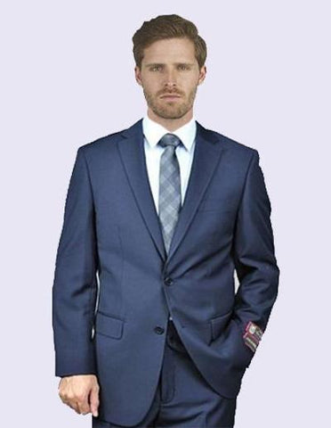 EURO SLIM FIT SUIT - BLUE