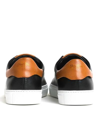 EDGE LEATHER SNEAKER - BLACK