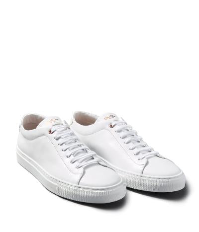 EDGE LEATHER SNEAKER - WHITE