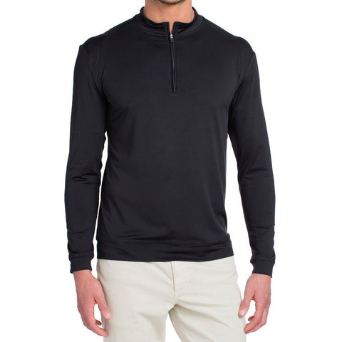 FLEX STRETCH 1/4 ZIP - BLACK