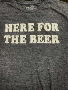 COCKTAIL TEE - HERE FOR BEER