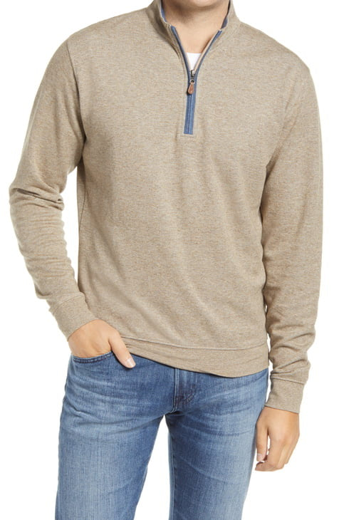 SULLY BUTTER SOFT 1/4 ZIP - HICKORY