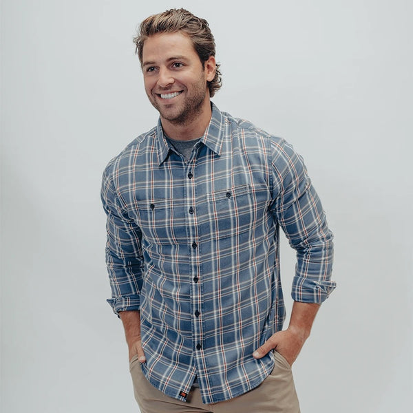 JUST A NORMAL FLANNEL - LT BLUE