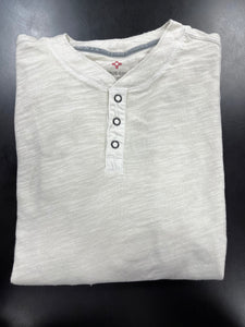 SUN WASHED LS HENLEY - CREAM