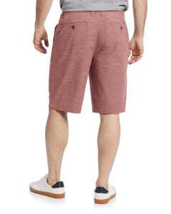 LIGHTWEIGHT SLUBBY SHORTS - RED
