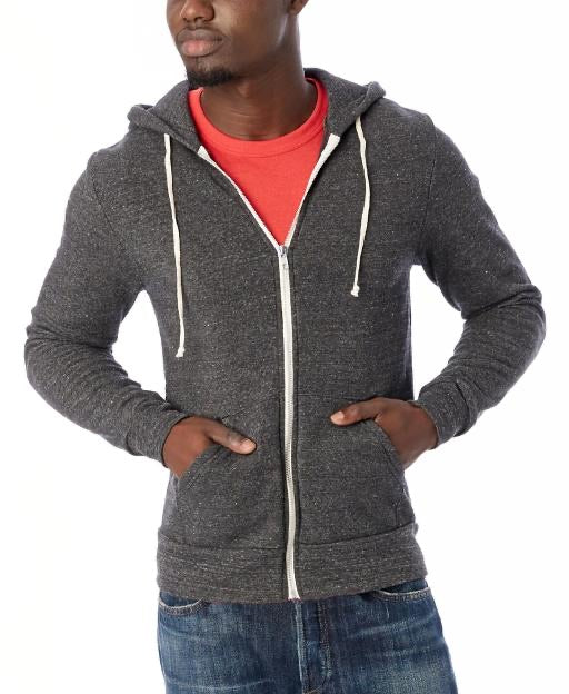 ROCKY ECO-FLEECE ZIP HOODY - EBLK