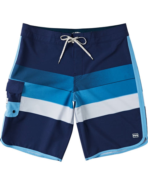 BOYS STRIPE BOARDSHORT - BLUE
