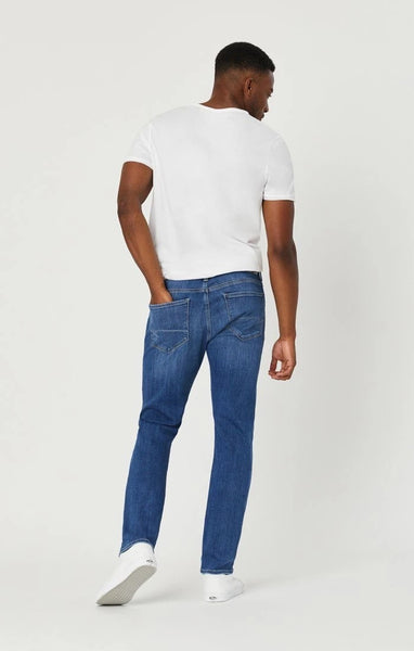 MAVI JAKE SLIM LEG - LT BRUSH FEATH BLUE