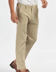 SLIM FIT COMMUTER PANT - KHAKI