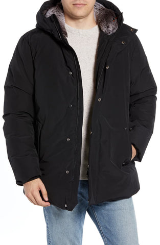MENS CHINCHILLAAA PARKA - BLACK