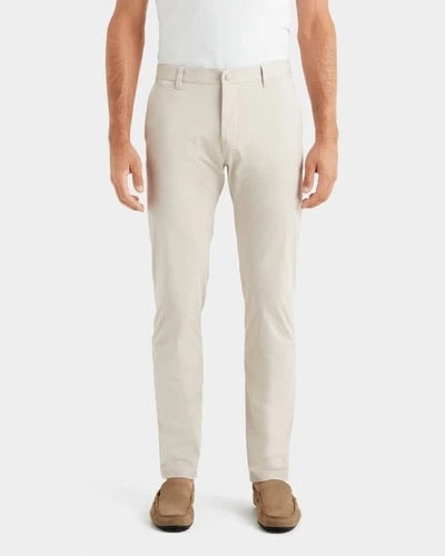 SLIM FIT COMMUTER PANT - STONE