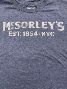 FOOD N DRINK TEE - MCSORLEYS- BLUE
