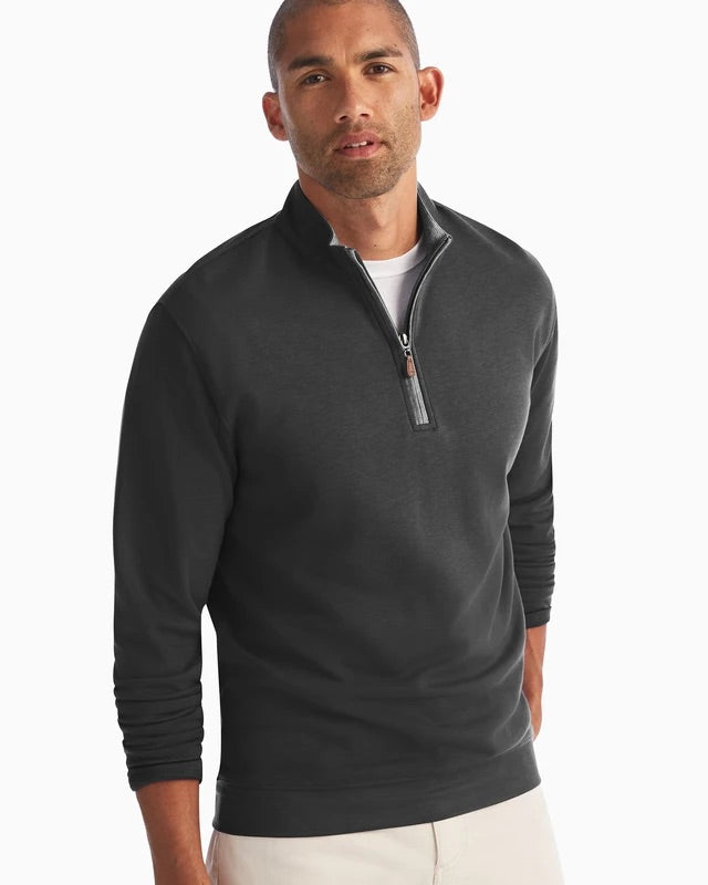 SULLY BUTTER SOFT 1/4 ZIP - BLACK