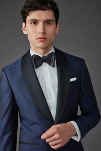 NOEL DINNER JACKET SHAWL COLLAR - BLUE