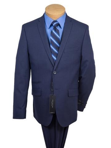 BOYS SKINNY BLUE WEAVE 2 PC SUIT - BLUE
