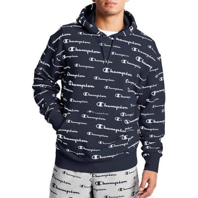 ALL OVER PRINT HOODIE - NAVY