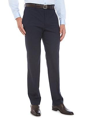 SLIM FIT TOTAL STRETCH DRESS PANT - NAVY