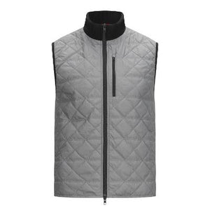 PAUL B MENS QUILT VEST - GREY