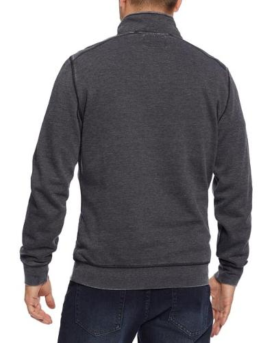 FLEECE QUARTER ZIP - CHARCOAL