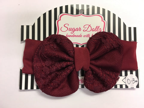 Lil Dollz Burgundy Lace