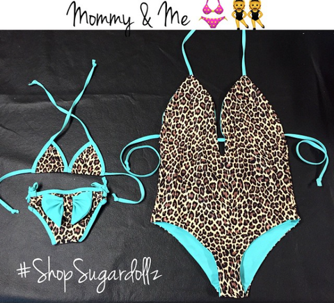 Black Sequins Mommy & Me Bikini (Mommy)