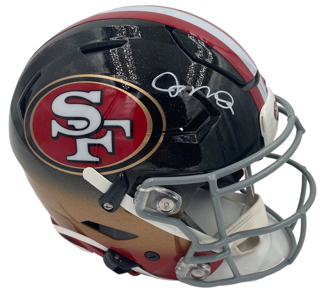 Joe Montana Signed Custom Speed Flex Helmet