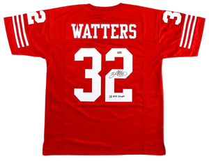 Ricky Watters Signed Custom Jersey