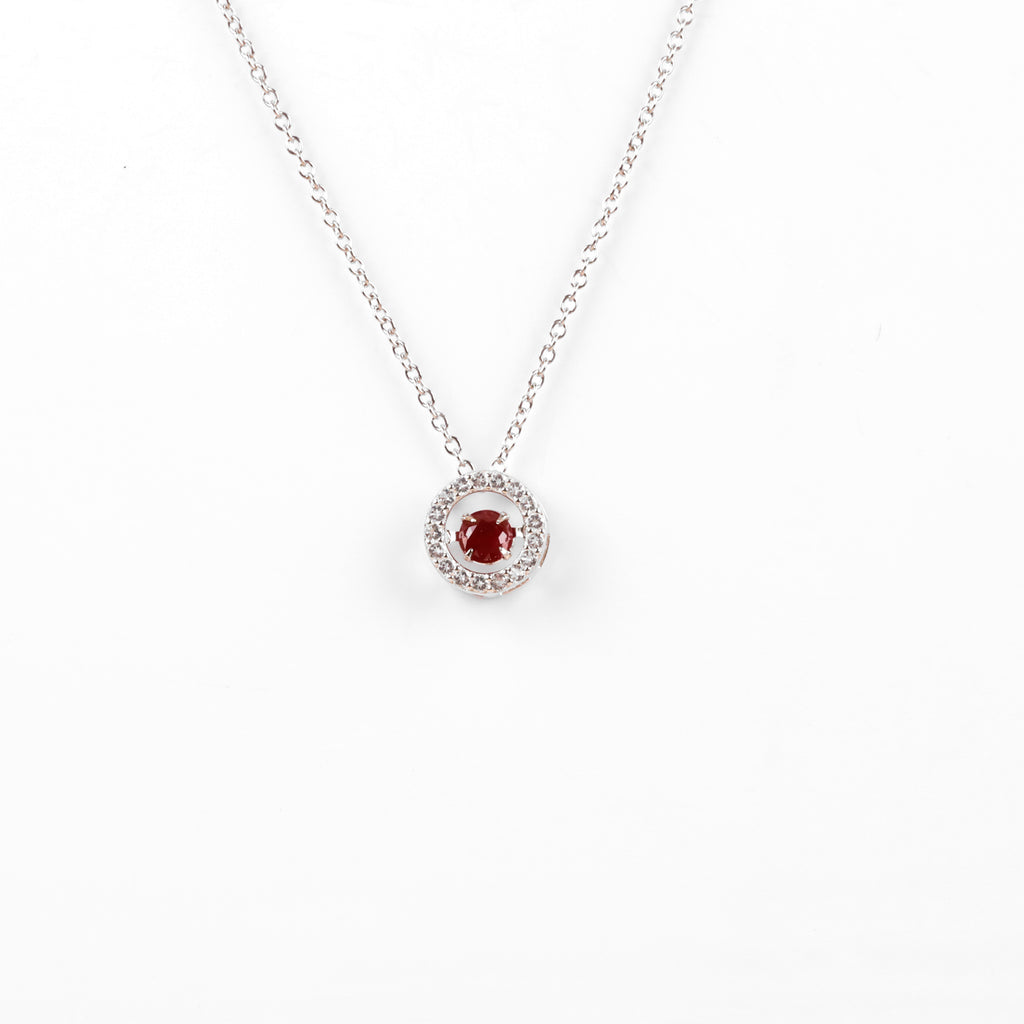 Genuine Ruby Dancing Necklace | 925 Sterling Silver Necklace | Beautiful Necklace for her