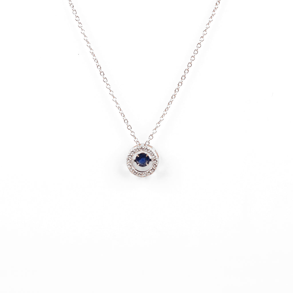 Genuine Sapphire Dancing Necklace | 925 Sterling Silver Necklace | Beautiful Necklace for her | Valentine Gift for her